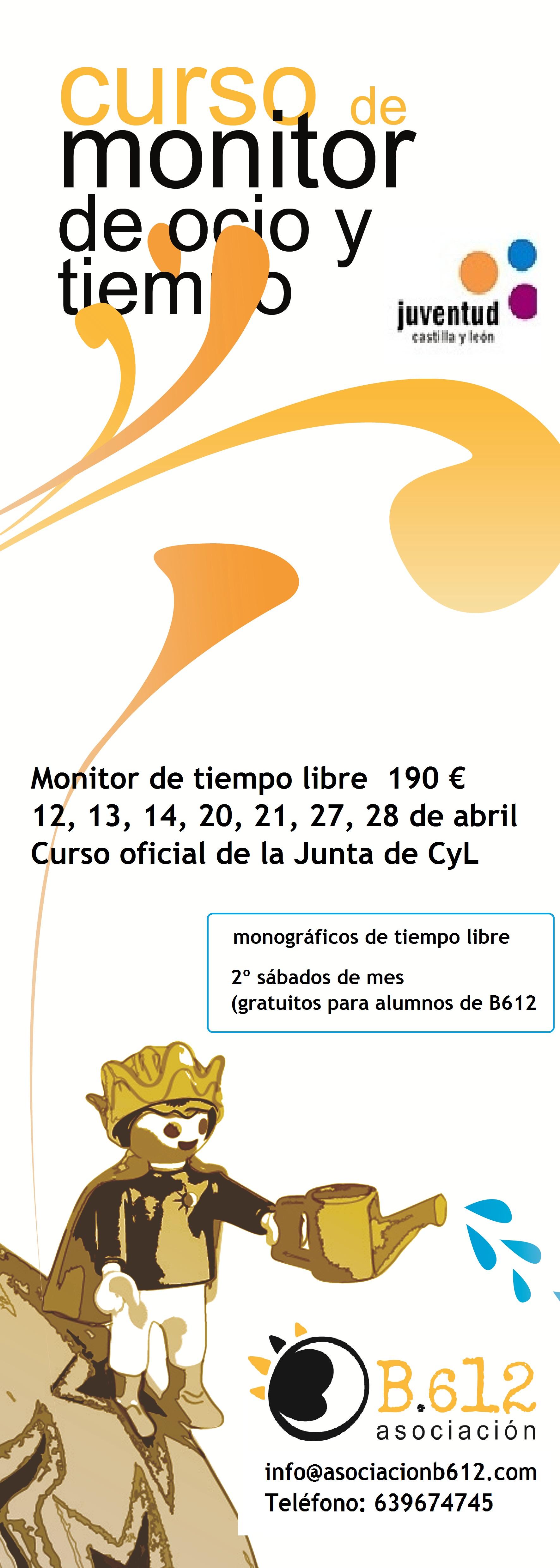 curso monitor tiem`po libre abril
