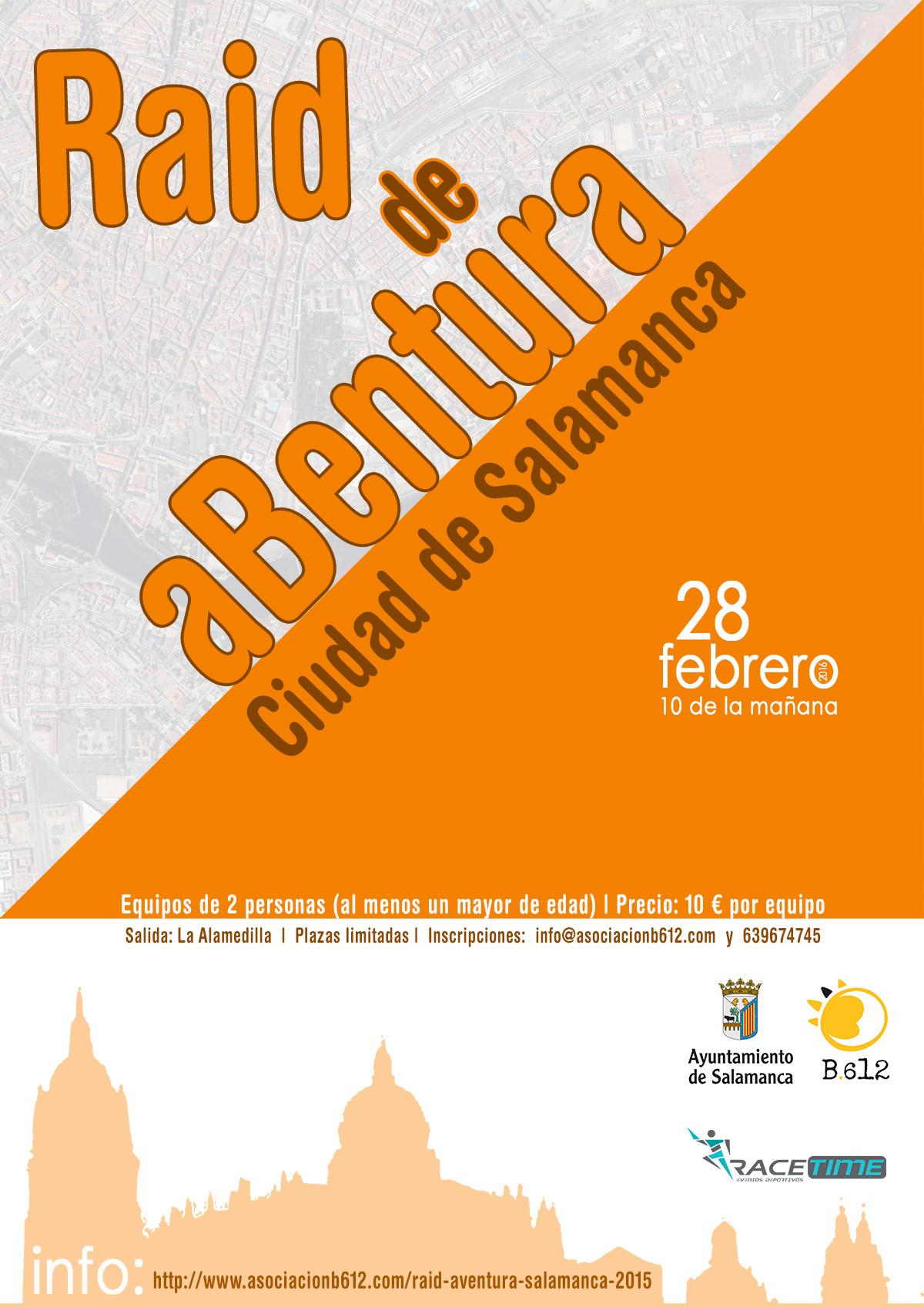 cartel raid abentura ciudad de Salamanca